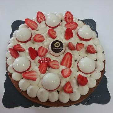 tarte fraisi-amande